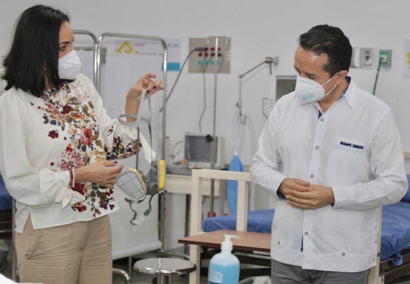 Listas instalaciones hospitalarias en el CENALTUR de Playa del Carmen: Carlos Joaquín, el gobernador de Q.Roo recorrió hoy las instalaciones