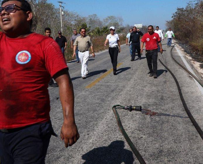 """""""Debemos tomar conciencia de no quemar basura ni usar fuego en desmontes clandestinos, son acciones ilegales y generan problemas enormes, así como daños irreparables"""", señala la Presidenta Municipal"""