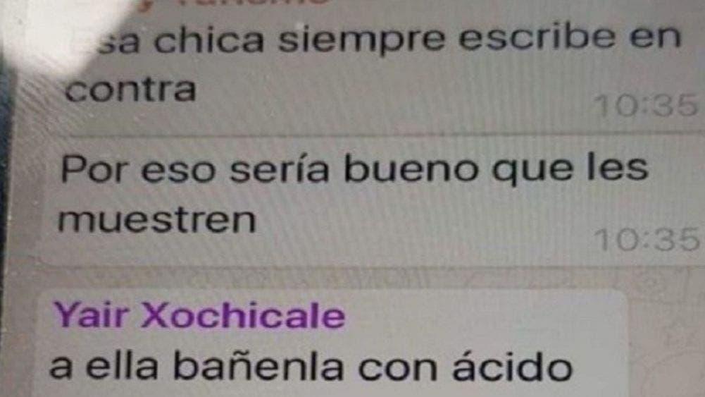 Funcionario pide bañar con ácido a mujer; lo exhiben en redes