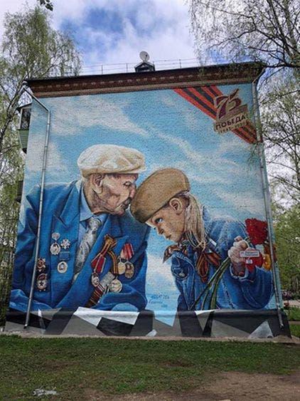 Los hermanos son famosos por sus murales. Foto: EFE