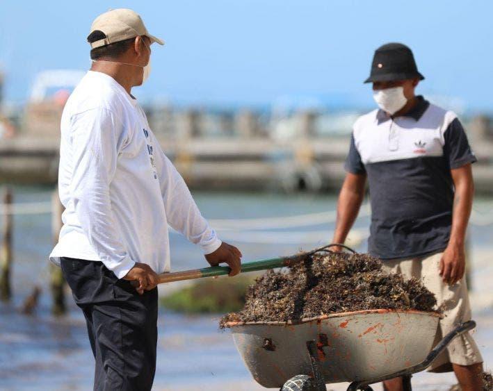 A partir de esta semana se incrementó la presencia de personal del ayuntamiento para realizar las labores de limpieza en las playas, informa la alcaldesa