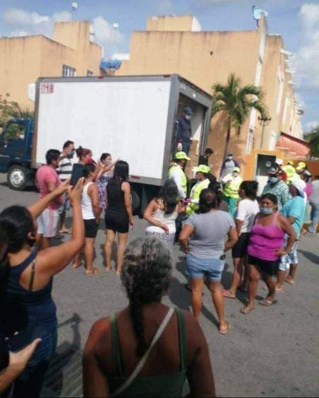 Suspenden entrega de despensas en fraccionamiento de Playa del Carmen.