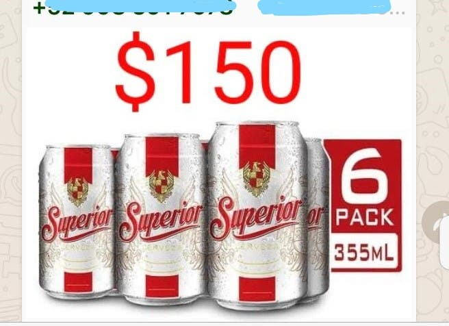 Continúa la venta ilegal de cervezas en redes sociales.