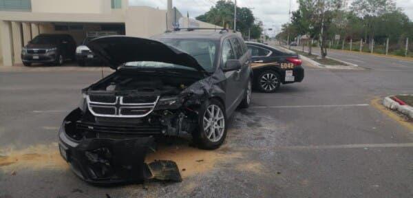Mérida: Se registra fuerte accidente en el fraccionamiento Montebello