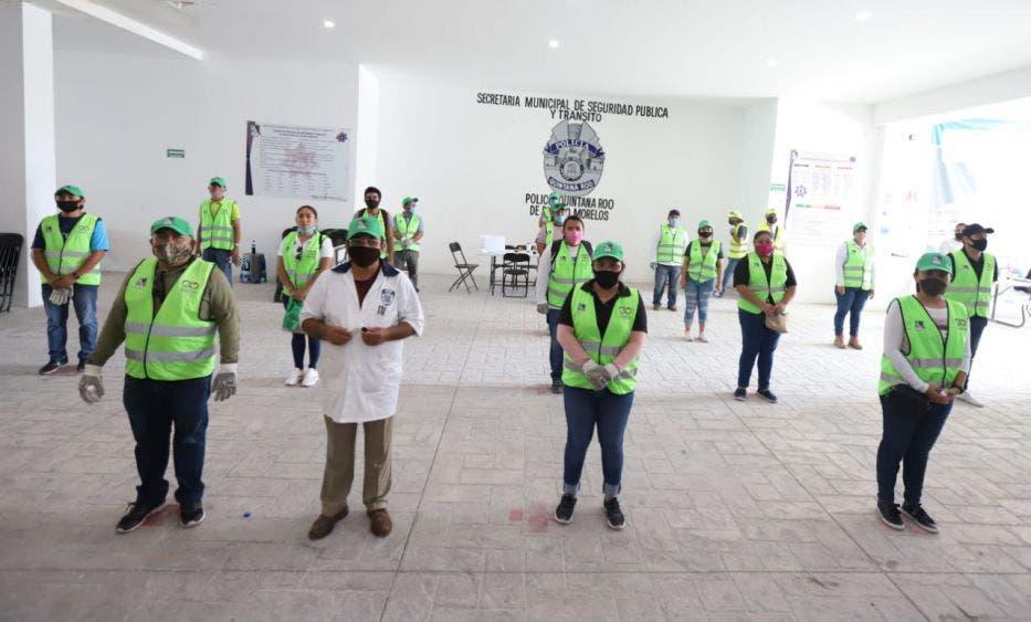 Inicia Laura Fernandez nueva entrega de despensas en Puerto Morelos, en coordinación con el Gobierno del Estado inicio la segunda etapa