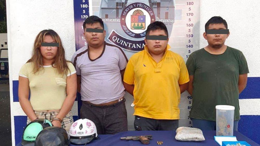 Detiene la Policía Municipal a cuatro personas en posesión de drogas