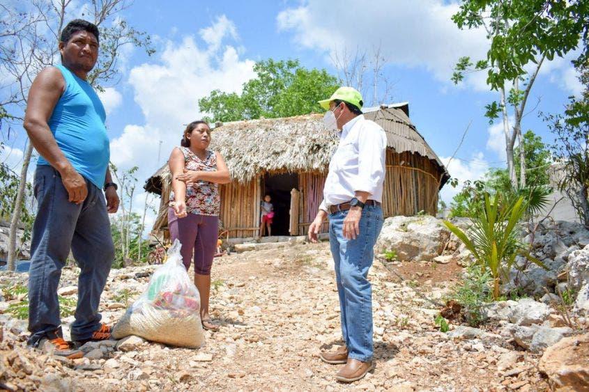 Hasta la fecha se han repartido 23 mil 801 despensas en la demarcación municipal y dos poblados de Felipe Carrillo Puerto