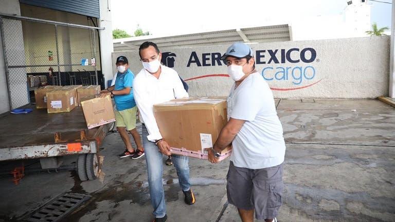 Yucatán recibe donativos provenientes de la Cdmx