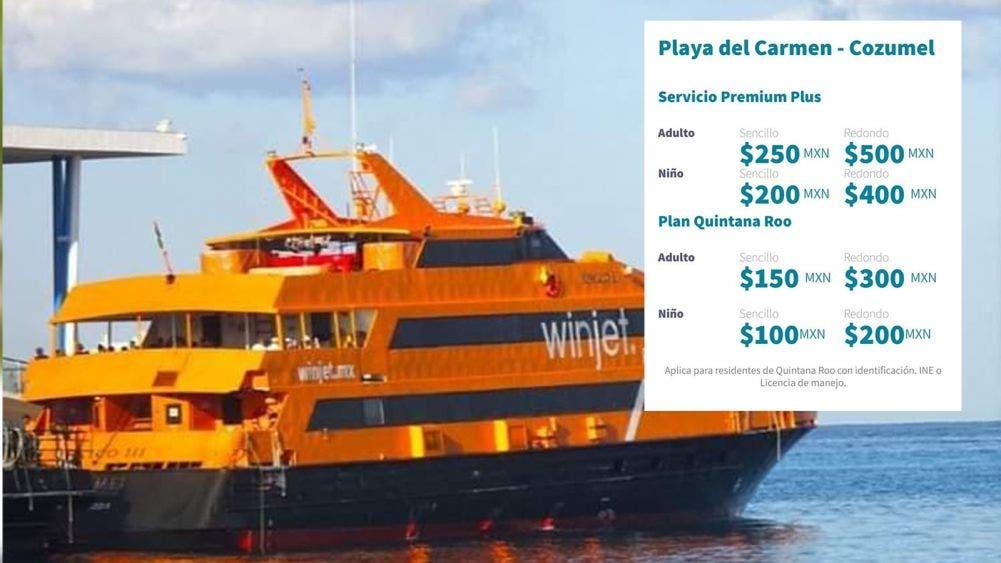 Incrementan costos navieras en cruce a Cozumel