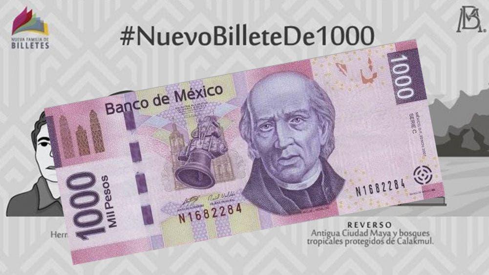 Estrenará Mexico billete de Mil pesos en segunda mitad del año