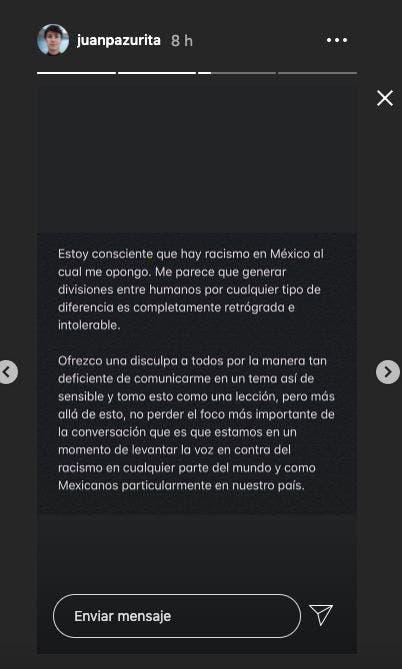 Juanpa Zurita dice que en México no hay racismo; lo tunden en redes