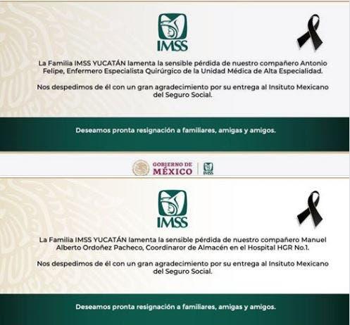 Enfermero del IMSS Yucatán fallece tras contagiarse de Covid-19