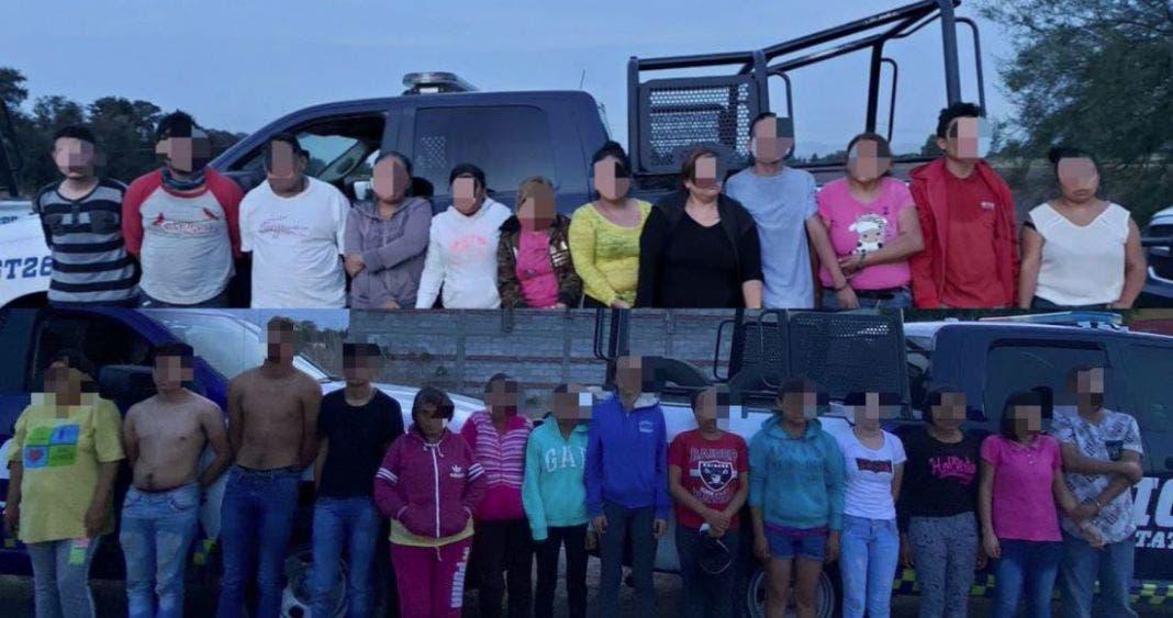 Detenidos durante el operativo del pasado sábado 20 de junio en Celaya, Guanajuato.