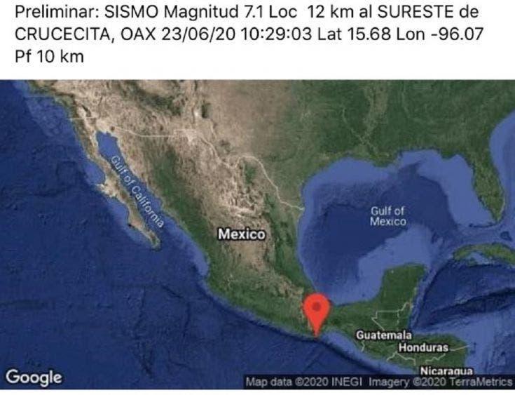 Estremece sismo a CdMx; 7.5 de magnitud, epicentro en Oaxaca