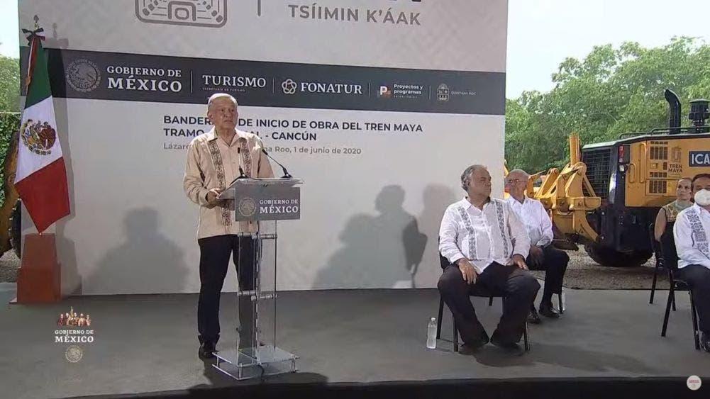 """Tren Maya, obra histórica para la región del sureste"""": AMLO"""
