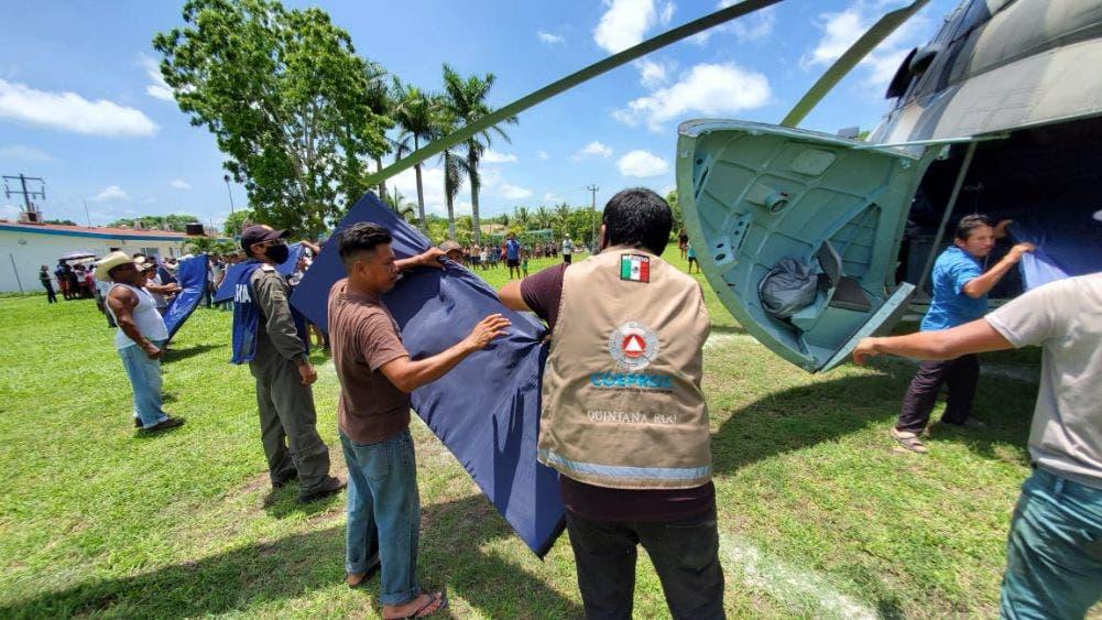 Cortes carreteros dejan incomunicadas a más de 10 comunidades de Bacalar.
