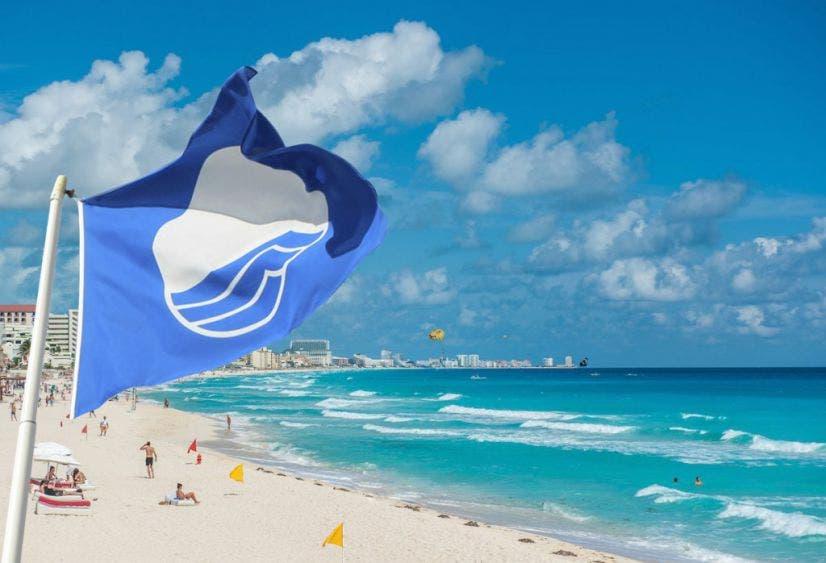 Cancún, destino líder nacional en playas 'Blue Flag'.