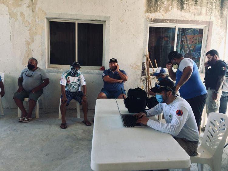 Integran Subcomité de Protección Civil en isla Holbox; tiene la encomienda de proteger a la población en caso de un huracán.