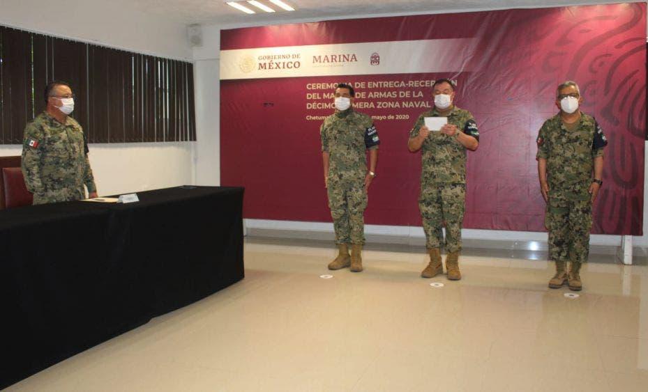 Cambio de mando en la XI Zona Naval de Chetumal.
