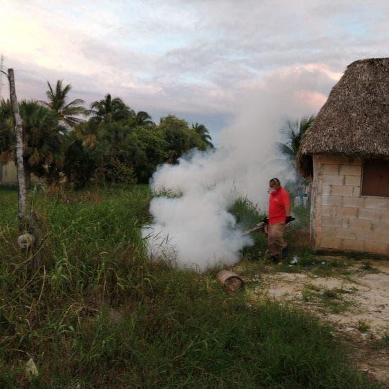 Continúan trabajos de nebulización en contra del mosquito en Lázaro Cárdenas.