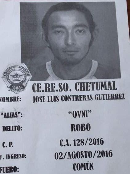 """Con la fuga de otro reo se evidencia la vulnerabilidad del Cereso de Chetumal; esta mañana se descubrió la evasión del """"Ovni""""."""