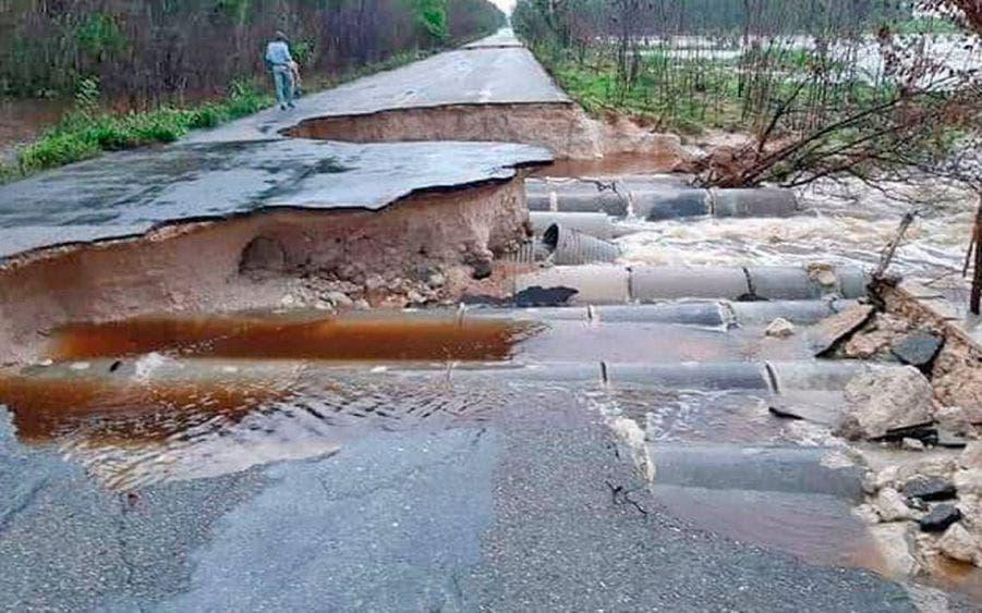 Entregarán a SCT informe de daños carreteros en Quintana Roo.