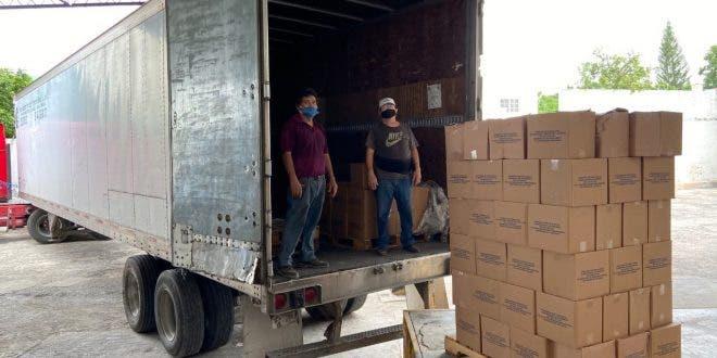 Llegan 43 toneladas de víveres para familias yucatecas afectadas por 'Cristóbal'