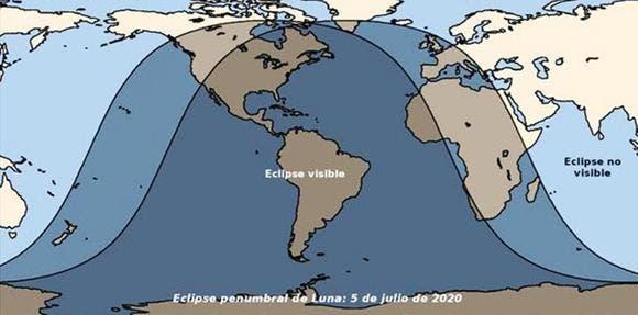Eclipse penumbral de luna: 5 de julio de 2020