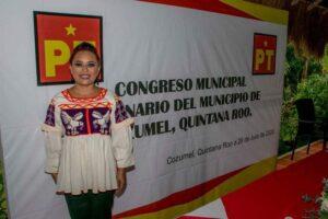 Deja Perla Tun el PAN, ahora es la coordinadora del PT en Cozumel.
