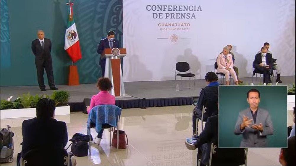 Intervención del gobernador de Guanajuato en la mañanera de AMLO.
