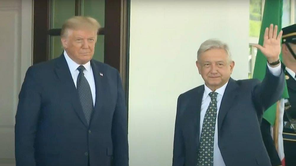 Inicia primera reunión AMLO y Trump; se encuentran en la Casa Blanca