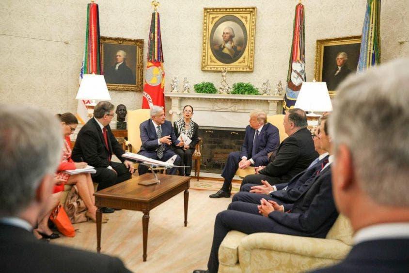 Reunión privada entre AMLO y Donald Trump.