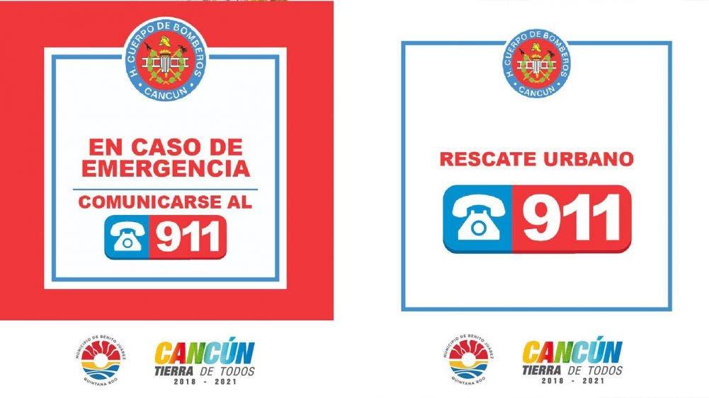 Pide H. Cuerpo de Bomberos de Cancún hacer uso del 911