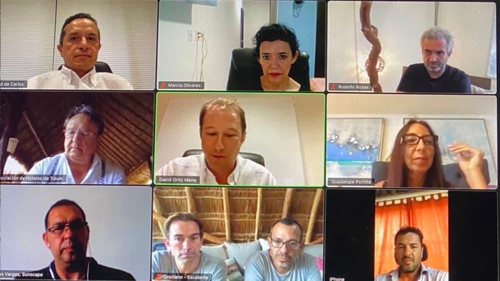 Carlos Joaquín se reúne con empresarios para revisar estrategias de recuperación económica