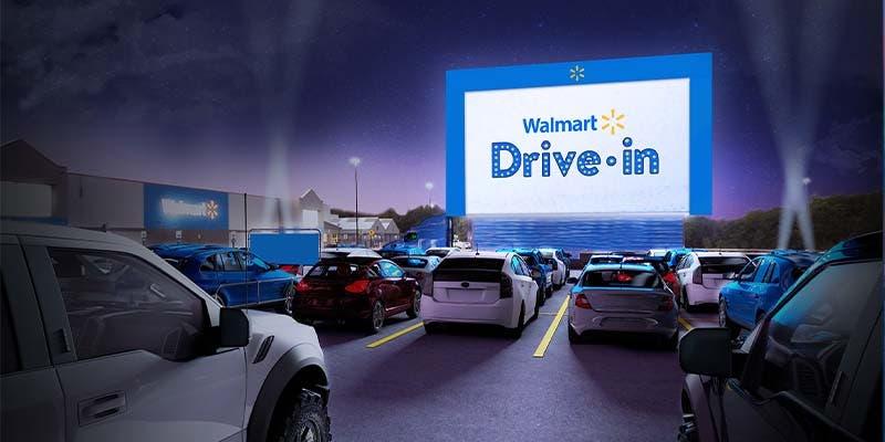 Autocinemas en Walmart durante pandemia por Covid-19