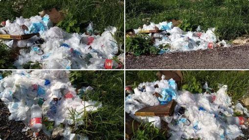 Tiran cientos de cubrebocas usados en terreno de Chichí Suárez