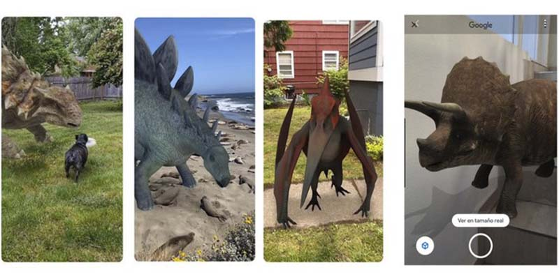 10 dinosaurios que puedes ver con la realidad aumentada de Google