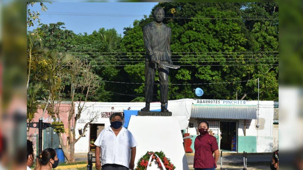 Rinden honor a caudillos mayas de la Guerra de Castas