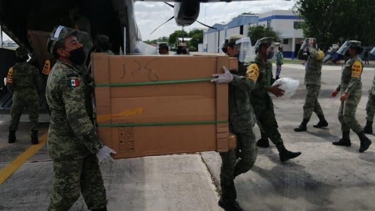 Siguen arribando insumos médicos para combatir el Covid-19 en Mérida