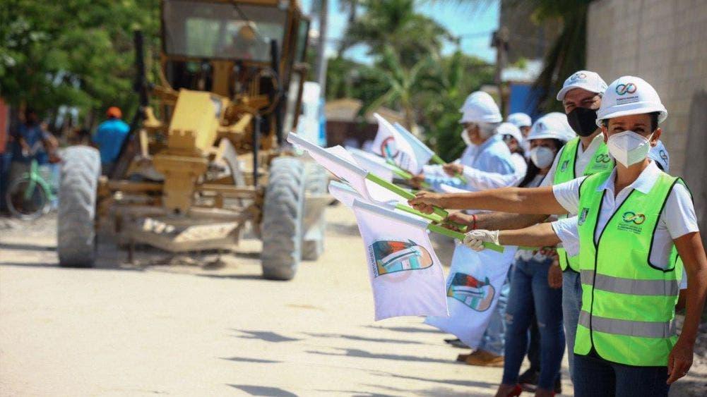 Laura Fernández dignifica La fe y Tierra Nueva con obras de pavimentación