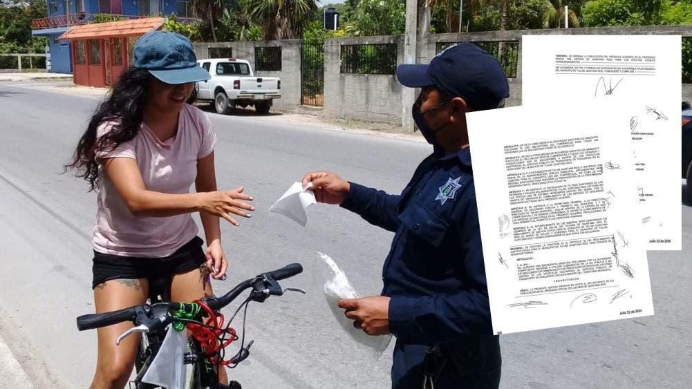 Multas y arrestos a partir de hoy en Tulum a quien no use cubrebocas