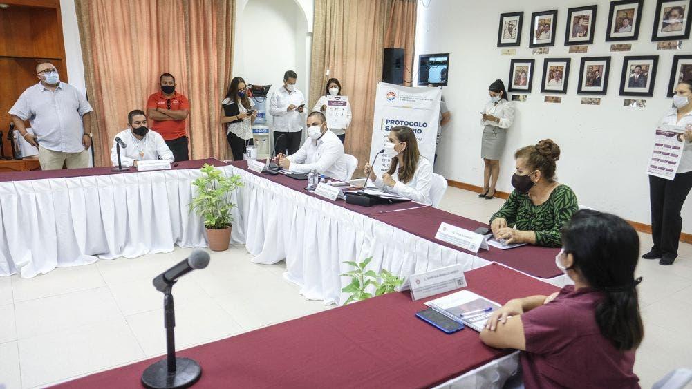 Mara encabeza presentación de protocolo sanitario ante el covid-19