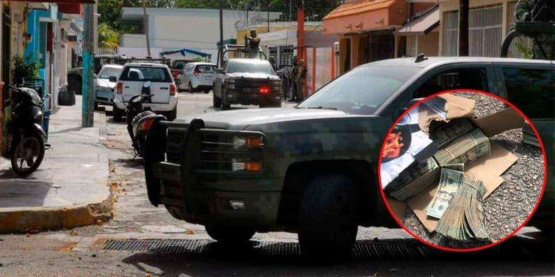 Detalla el Ejército aseguramiento de 300 mil dólares en Chetumal.