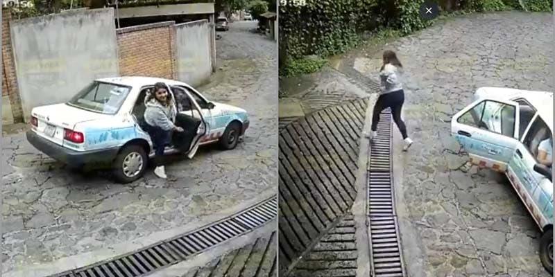 Video: Recibe flores y una mujer se las roba en un taxi