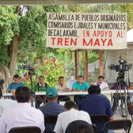 Imagen tomada de la cuenta de Twitter de Eleazar Ignacio Dzib Ek, Comisario Municipal en Zoh-Laguna, Calakmul, Campeche.