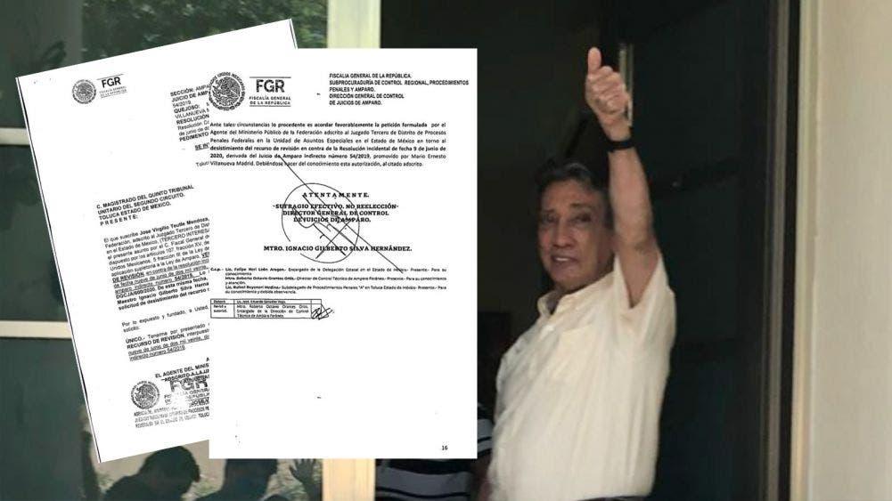 Desiste FGR apelación para regresar a Mario Villanueva a prisión
