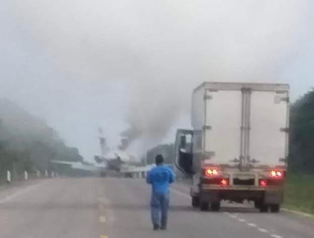 Actualización: En medio de balacera cae sexto narcoavión en Quintana Roo.