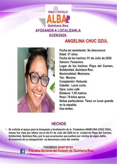 Piden apoyo para localizar a una mujer en Playa del Carmen.