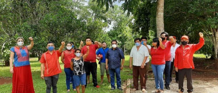 Designa el PT a delegados para congreso estatal ordinario; participantes pasan por alto las medidas sanitarias decretadas por la pandemia.