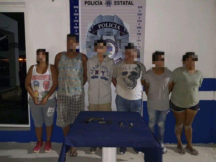 Caen seis miembros de célula delictiva en Tulum.